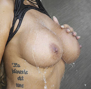 hot female breast without cloth